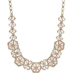 NWT Kate Spade Rose Gold Flower Statement Necklace